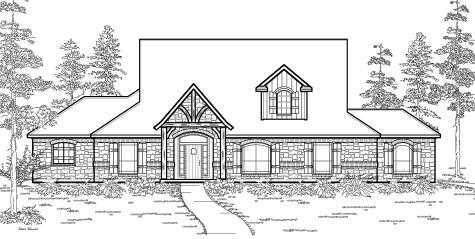 Texas House Plans PLAN   FRONT ELEVATION