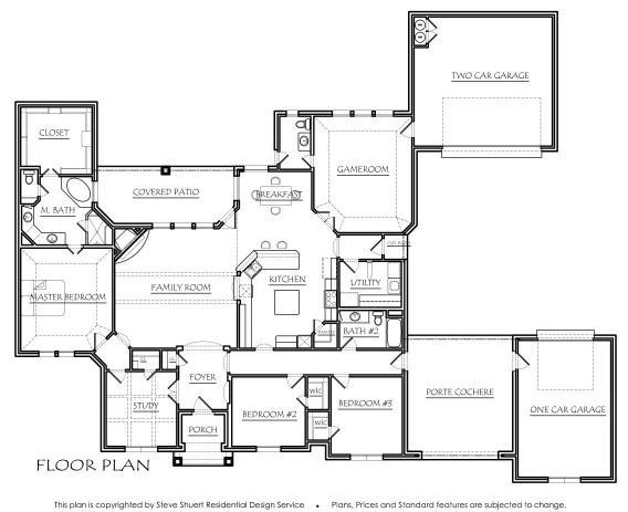 Texas house plans for Porte cochere house plans